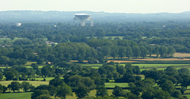 Jodrell Bank from the air