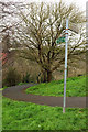 ST5672 : Footpath signpost, Sion Hill, Clifton by Derek Harper