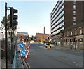SJ8990 : The A6 through Stockport by Gerald England