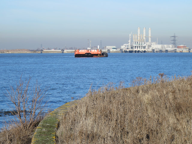 The River Medway between Chetney Marshes and the Isle of Grain