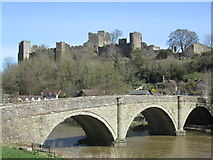 SO5074 : Ludlow Castle & Dinham Bridge (Ludlow) by Fabian Musto