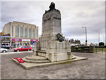 SD4364 : Morecambe and Heysham War Memorial (north and east faces) by David Dixon