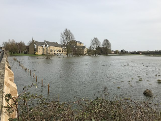 Spring flooding in St Ives, Cambridgeshire - 1/10