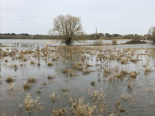Spring flooding in St Ives, Cambridgeshire - 2/10