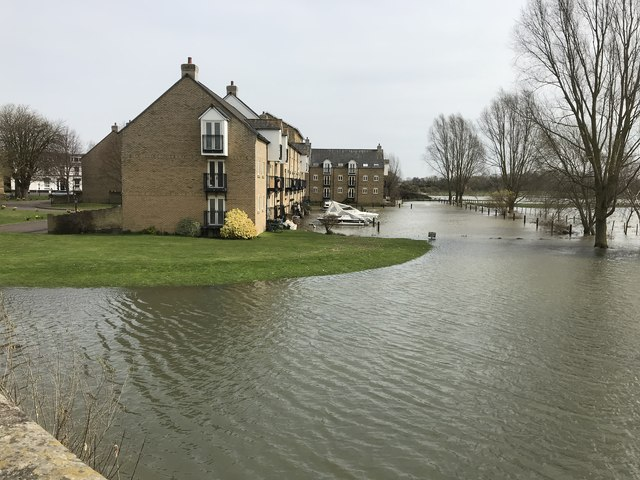 Spring flooding in St Ives, Cambridgeshire - 6/10
