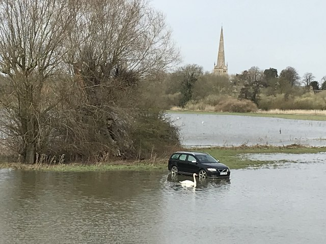 Spring flooding in St Ives, Cambridgeshire - 7/10