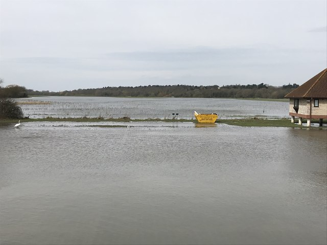 Spring flooding in St Ives, Cambridgeshire - 8/10