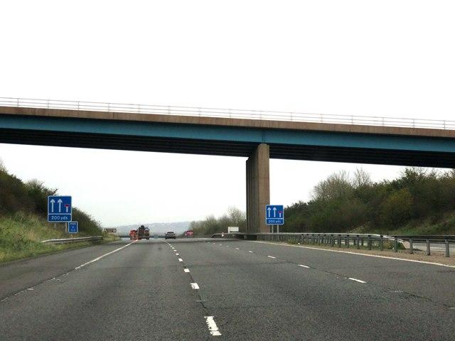 The M65 runs under Tockholes Road