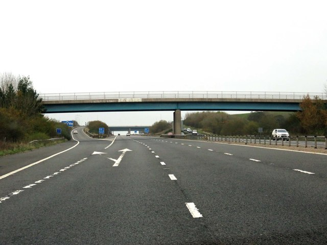 The M65 runs under Walker Road