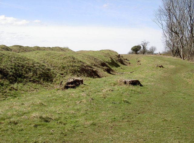 The north ramparts are now cleared