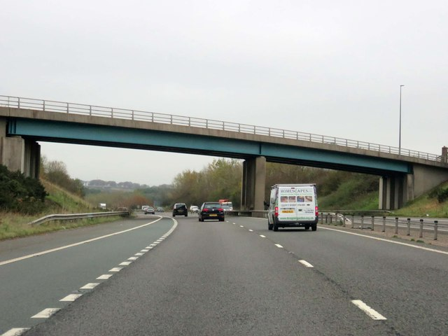 The M65 runs under School Lane