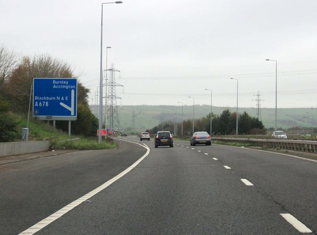 The M65 heading to Burnley