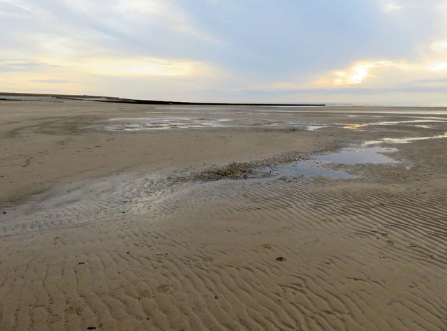 The beach by Rossall Point