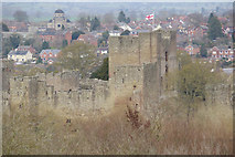 SO5074 : Ludlow Castle from Whitcliffe Common by Stephen McKay