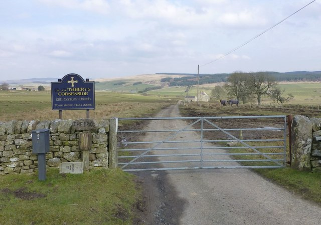 Gateway to St Cuthbert's Corsenside and The Brigg