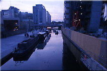 TQ2681 : View up the Paddington Basin towards Little Venice from the static bridge by Robert Lamb