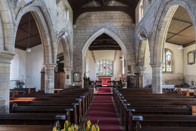 Interior, All Saints' church, Beckingham