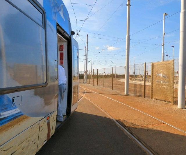Tram at Starr Gate Depot © Gerald England :: Geograph