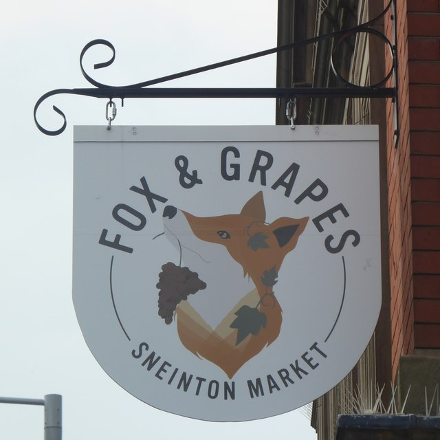 The sign of The Fox & Grapes