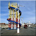 SD3036 : Helter-skelter on North Pier by Gerald England