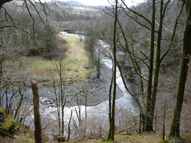 The River Greta from Brundholme Wood