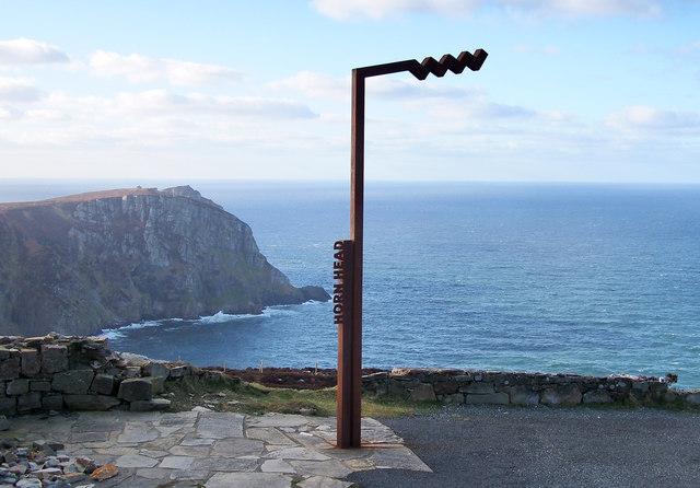 Wild Atlantic Way sign, Horn Head