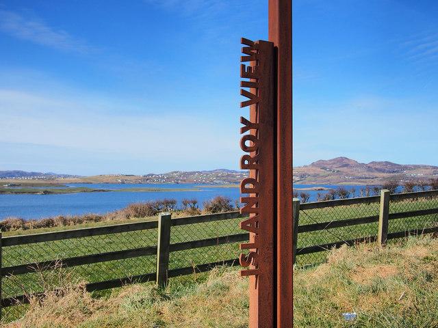 Wild Atlantic Way sign, Island Roy View