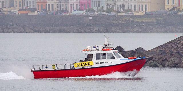 The 'Bangor Boat' approaching Bangor