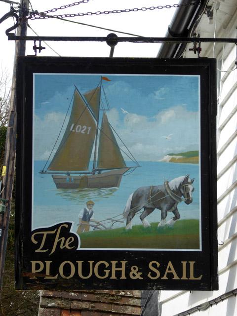 Inn Sign, Plough and Sail, Paglesham Eastend