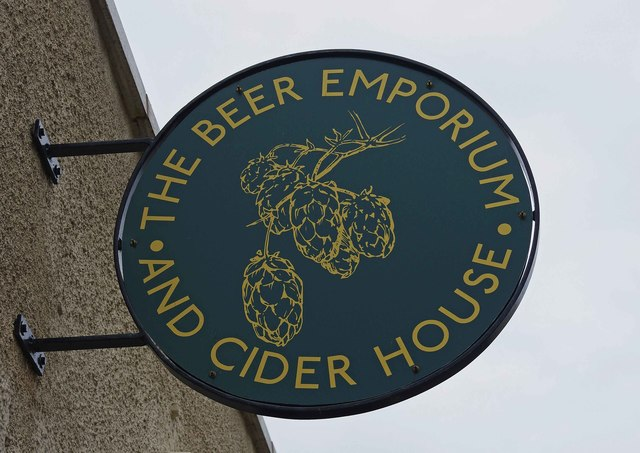 The Beer Emporium and Cider House (2) - sign, 48 Oxford Street, Kidderminster, Worcs