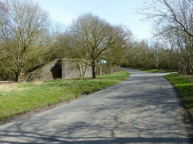 Remains of railway bridge near Ingarsby