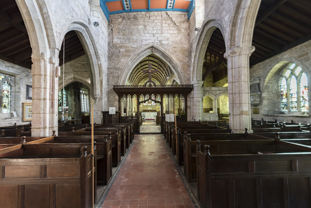Interior, St Peter's church, Clayworth