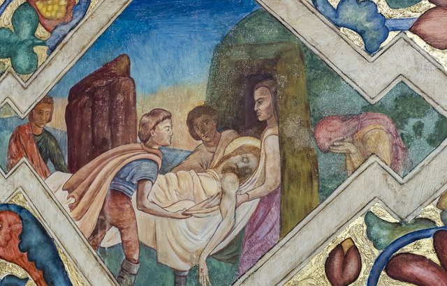 The Deposition, Mural, St Peter's church, Clayworth