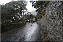 SX9363 : Retaining wall, Ilsham Marine Drive by N Chadwick