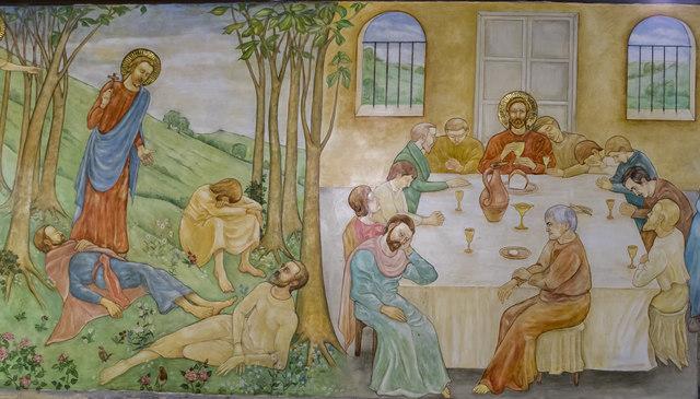 Mural st peter 39 s church clayworth julian p guffogg for Children s mural