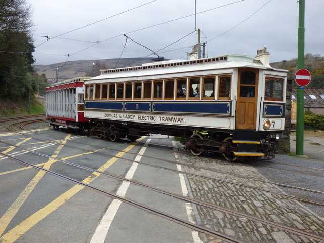 Car No 7 entering Laxey station