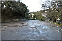 SX9263 : Empty car park, Meadfoot Beach by N Chadwick