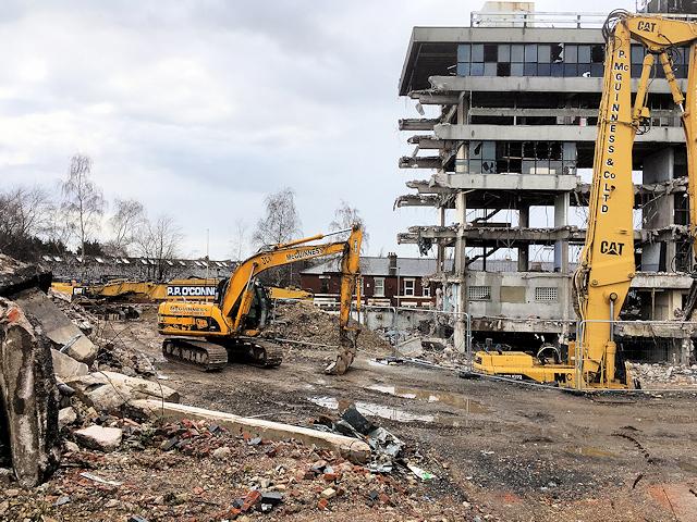 Demolition of Former Police HQ (April 2018)