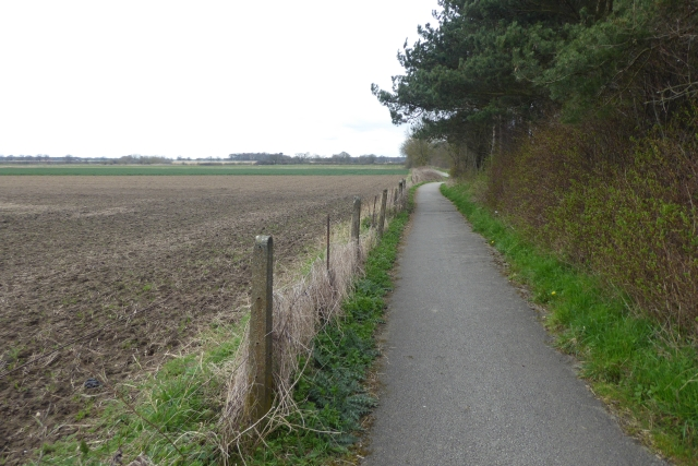 Cycle path to York