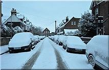 TQ5840 : Snow, Southfields Rd by N Chadwick