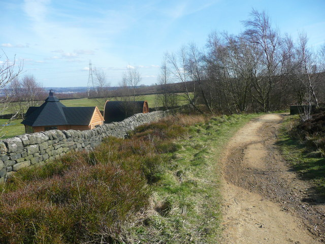 Permissive bridleway and camping pods, Harden