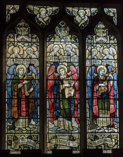 Stained glass window, St Peter's church, Clayworth