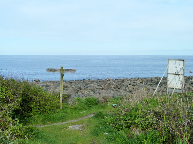 Junction on the coastal path