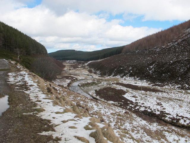 Glen Fiddich and the course of the River Fiddich