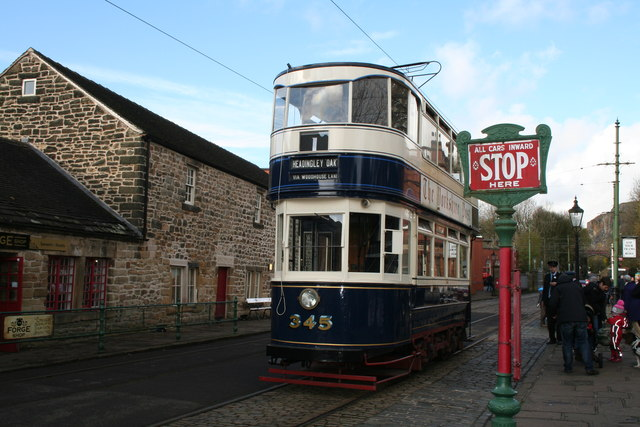 Ex-Leeds Car 345 at Crich