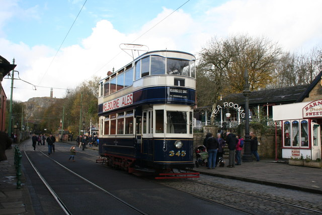 Ex-Leeds cr No 345 at Crich