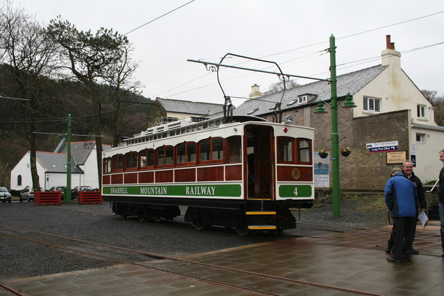 Snaefell Mountain Railway car No 4 at Laxey