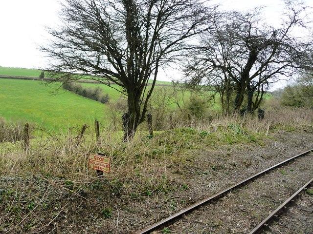 Stop sign, East Somerset Railway