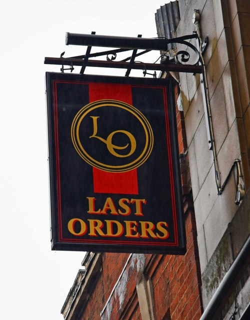 Last Orders (2) - sign, 18 Yorkshire Street, Oldham