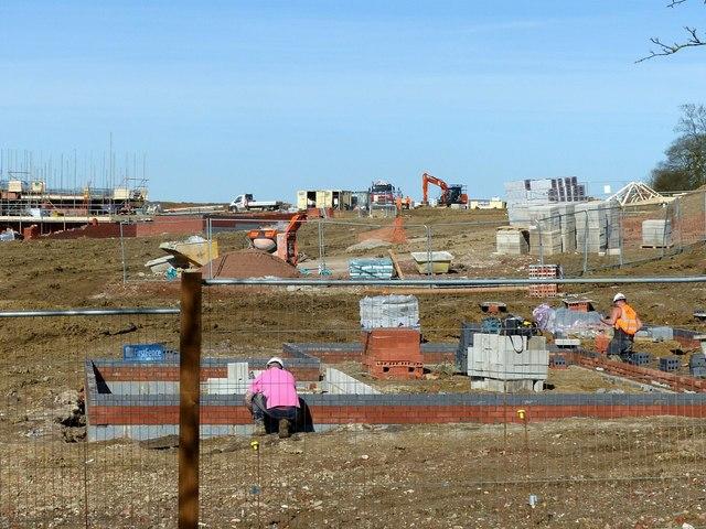 New housing development, Beeby Road, Scraptoft